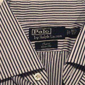 Ralph Lauren Polo Blue white striped dress shirt